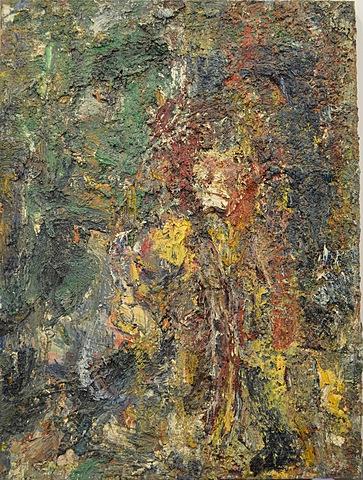 Grand homme jaune d'Eugène Leroy