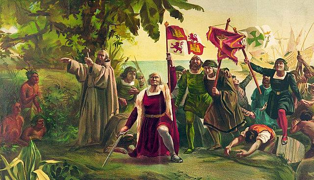 """Cristobal Colón llega a """"La India"""""""