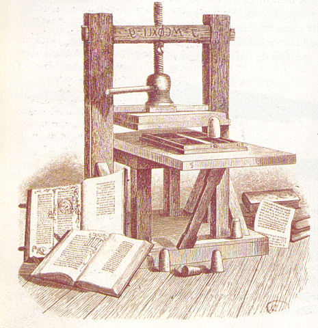 Johannes  Gutenberg inventa la imprenta.