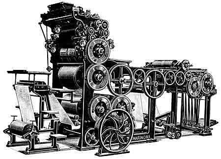 Aparece la primera máquina de composición tipográfica