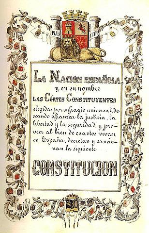 Promulgació de la nova Constitució