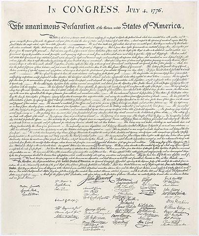 Den amerikanske uavhengighetserklæringen