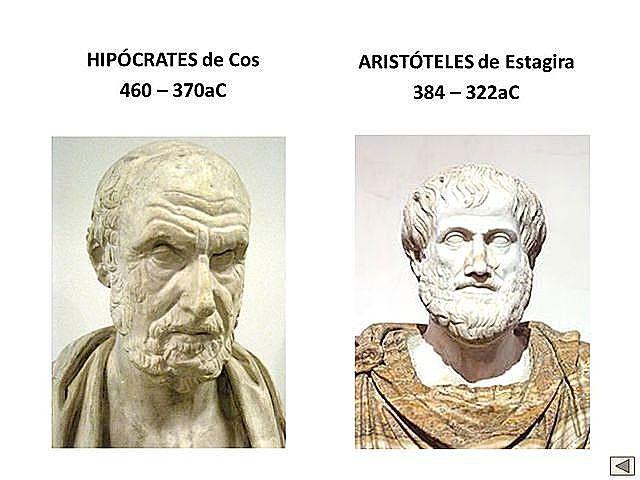 Hipocrátes y Aristoteles