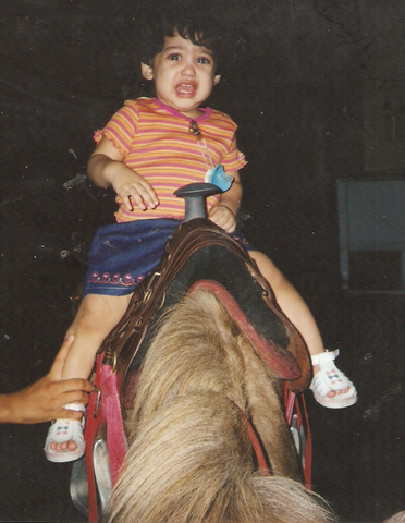My first horseriding