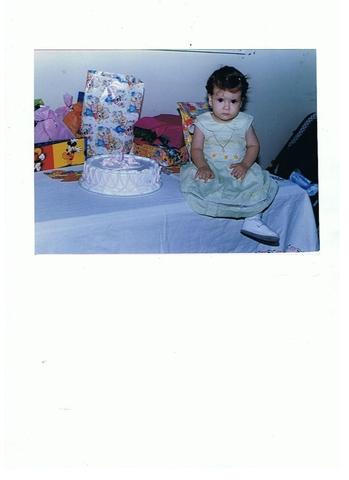 My first birthday.