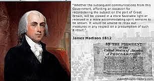 James Madison Signs Declaration of War