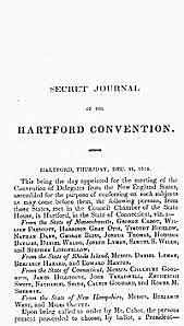 New England Federalists Meet in Hartford Connecticut