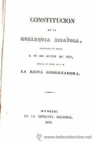 Promulgació de la Constitució de 1837
