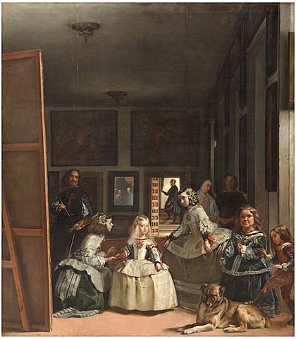 """Diego Velázquez termina el famoso cuadro """"Las meninas""""."""
