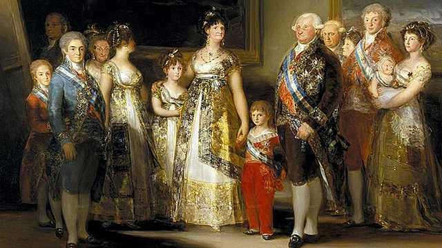Goya pinta la familia de Carlos IV