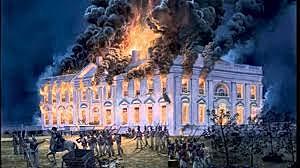 British forces burn Washington