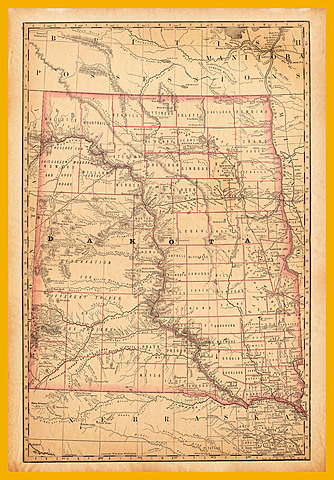 North and South Dakota Become States