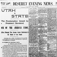 Utah Becomes a State