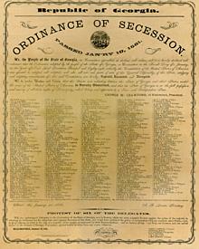 Georgia Leaves the Union