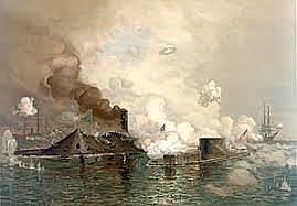 Battle of Ironclads at Hampton Roads, Virginia