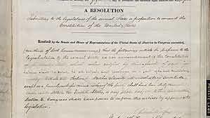 Thirteenth Amendment to Abolish Slavery