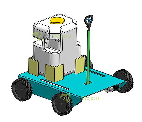 Plant Irrigation Water Sprinkler Agriculture Robot