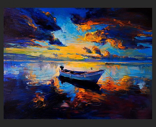 Sunset over the water d'Ivailo Nikolov