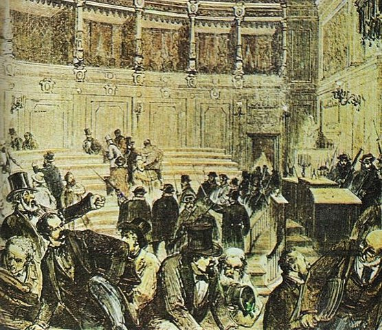 Cop d'estat del general Pavía i Dissolució Corts