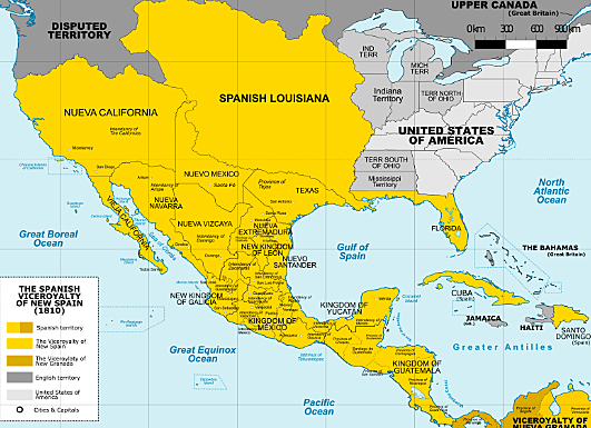 Spain conquers the rest of Mexico and Spanish settlers arrive. Mexico is part of the colony of New Spain.