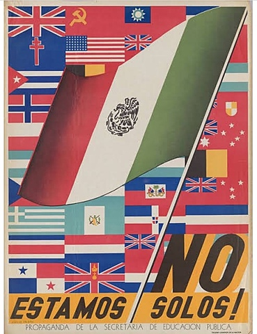 Mexico joins the Allies in World War II declaring war on Germany and Japan.