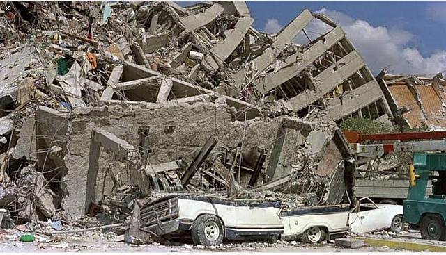 8.1 level earthquake hits Mexico City.