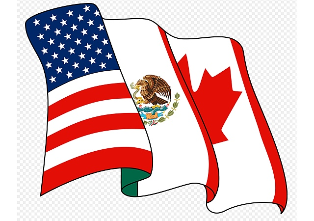 The North American Trade Agreement (NAFTA) with Canada and the United States is ratified.
