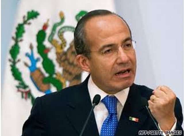 Conservative candidate Felipe Calderon is declared the winner of presidential elections