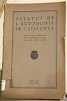 Projecte Bases per a l'autonomia de Catalunya