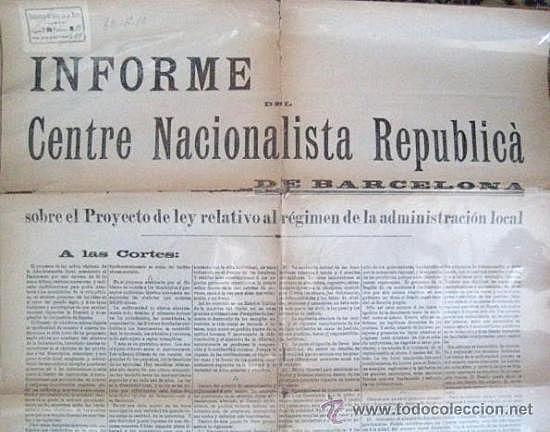 Creació del Centre Nacionalista Republicà
