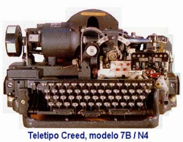 El teletipo  permitía el envío de mensajes escritos a distancia