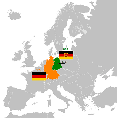 Allemagne séparée en deux