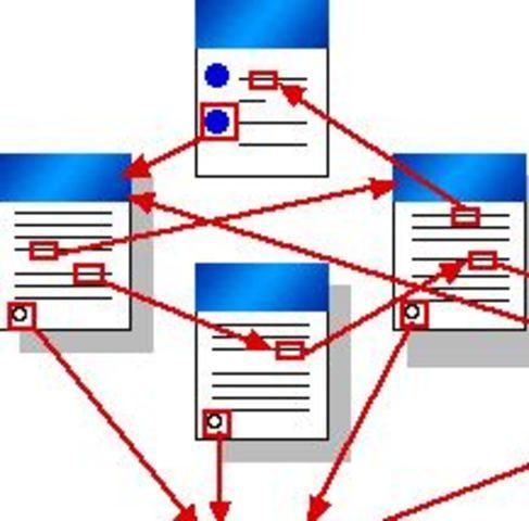"Se realiza el primer intento de implementar hipertexto ""Project Xanadu"