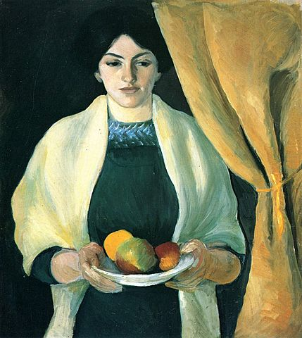 Porträt mit Äpfeln / Portret met appels