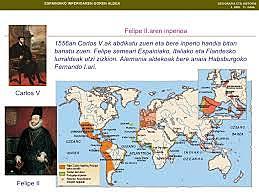 Filipe II.ak Madrilen finkatuzuen bere inperioaren hiriburua.