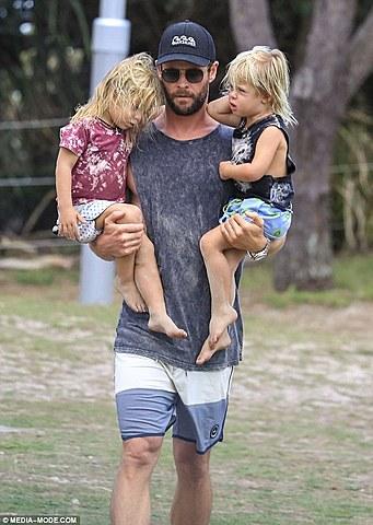 Twin children Sasha and Tristan are born
