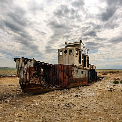 Изменения Аральского моря timeline