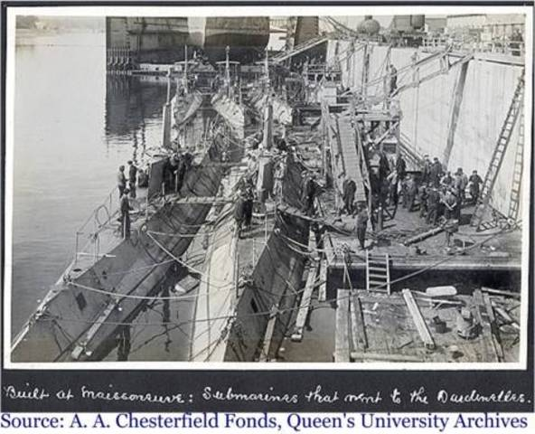 Germany declares a submarine blockade of Great Britain