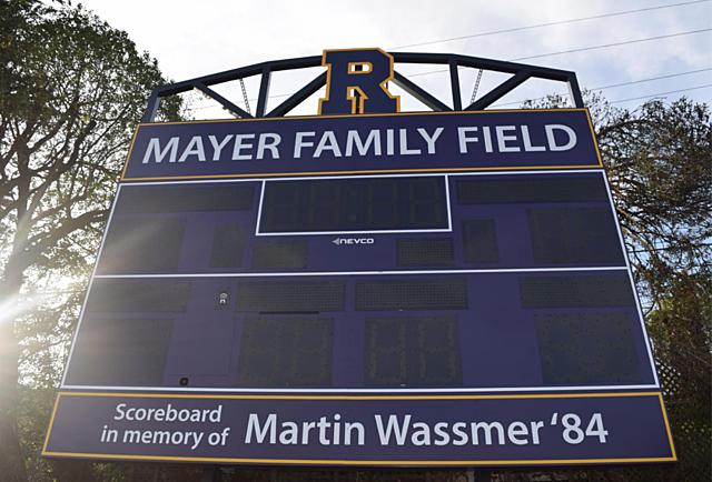 New Scoreboard installed