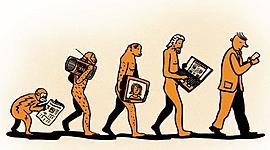 The Evolution of Traditional Media timeline