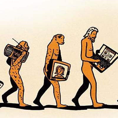 The Evolution of Traditional Media timeline