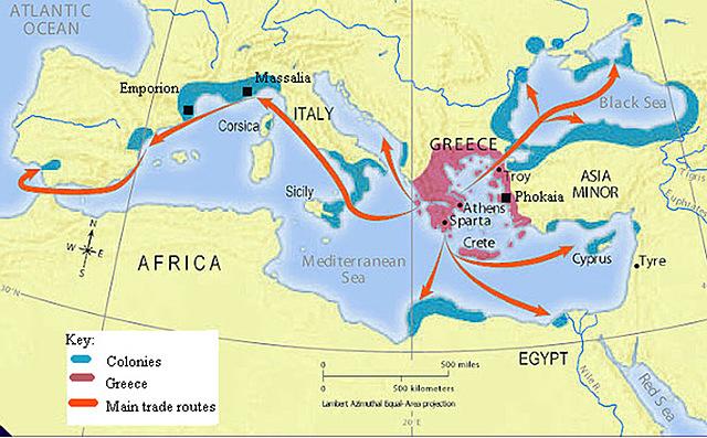 Greeks Begin to Colonize