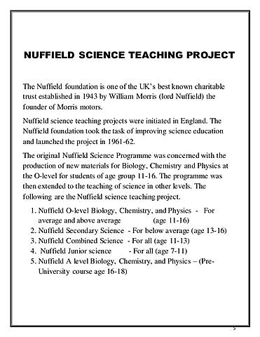 Nacimiento del proyecto NUFFIELD