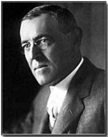 Woodrow Wilson re-elected President