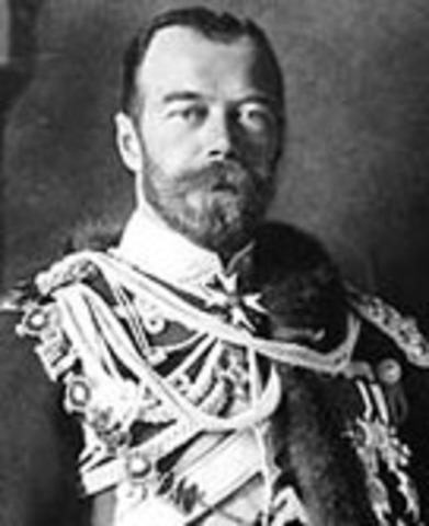 Tsar Nicholas II of Russia abdicates