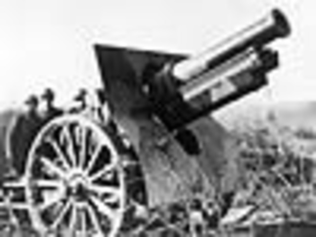 American troops in France fire their first shot in trench warfare