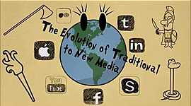 The Evolution of Traditional to New Media timeline