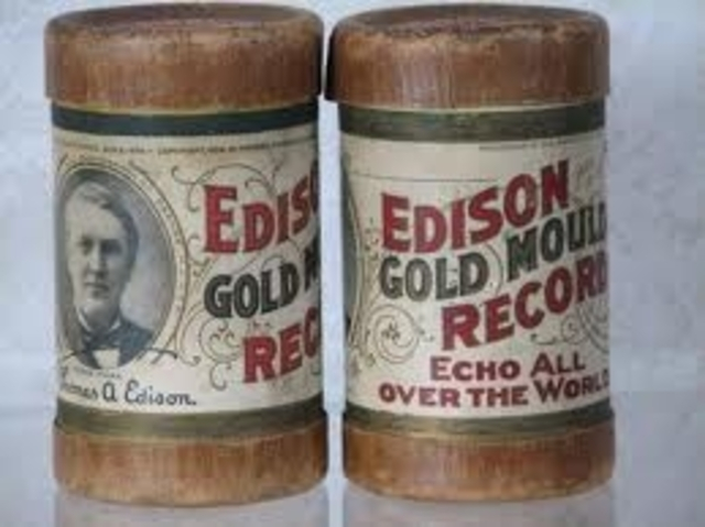Edison attempts to record picture photos onto a wax cylinder.