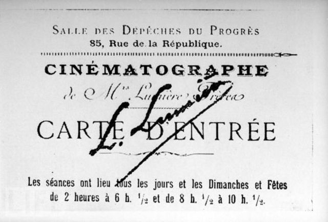 First public demonstration of motion pictures displayed in France.