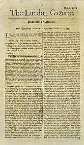 NEWSPAPER--THE LONDON GAZETTE